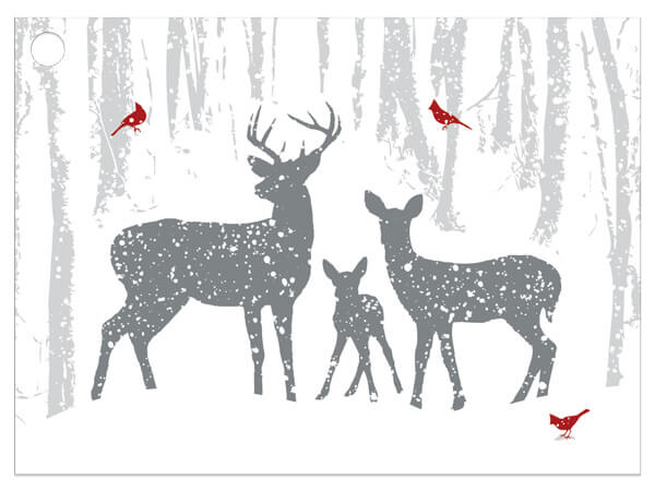 """Woodland Frost Gift Cards 3-3/4x2-3/4"""""""