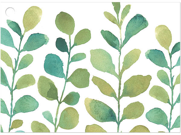 """Watercolor Greenery Gift Cards 3-3/4x2-3/4"""""""