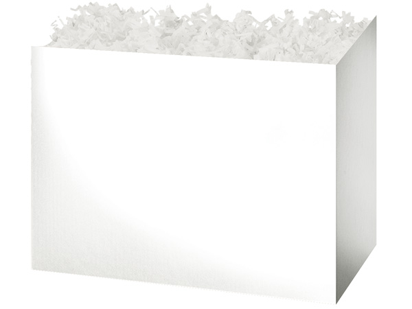 Large Solid White Basket Boxes 10-1/4x6x7-1/2""