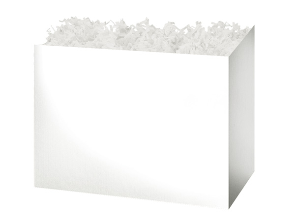 Medium Solid White Basket Boxes 8-1/4x4-3/4x6-1/4""