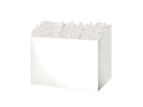 Small Solid White Basket Boxes 6-3/4x4x5""