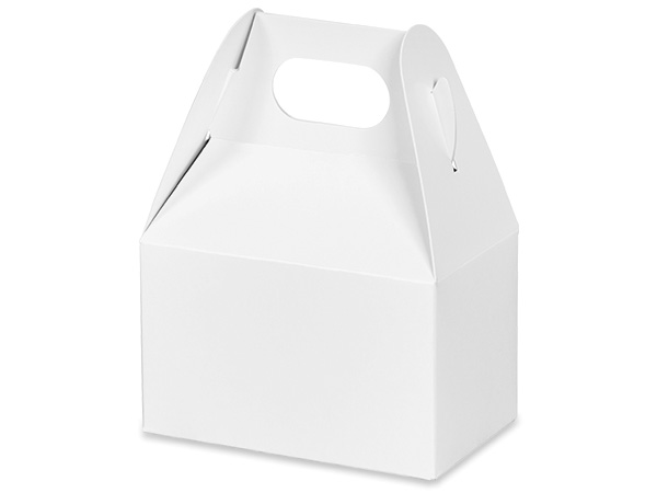 "White Mini Gable Boxes, 4x2.5x2.5"", 6 Pack"