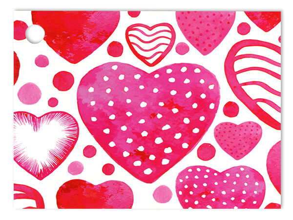 """*Watercolor Hearts Theme Gift Cards 3-3/4x2-3/4"""""""