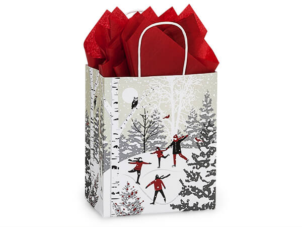 """Winter Snowday Shopping Bags, Cub, 8x4.75x10.25"""", 25 Pack"""