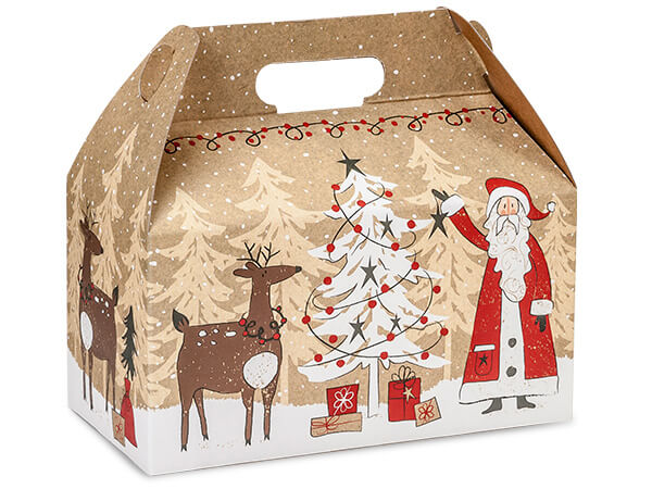 Woodland Santa Gable Boxes
