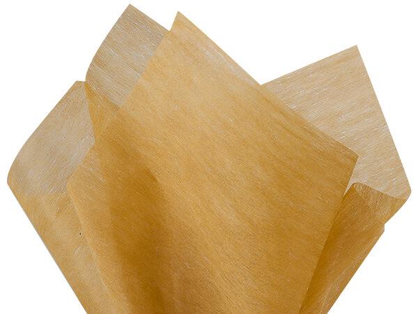 "Gold Non-woven Tissue, 20x26"", Bulk 100 Sheet Pack"