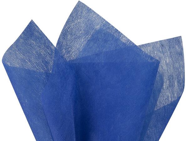 "Sapphire Blue Non-woven Tissue 20x26"", Bulk 100 Sheet Pack"