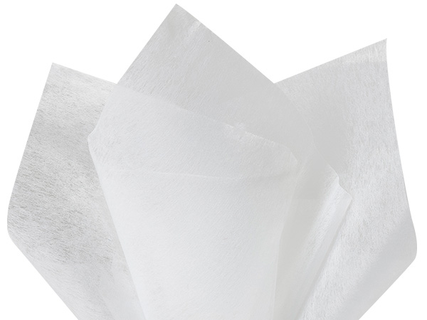 "White Non-woven Tissue, 20x26"", Bulk 100 Sheet Pack"