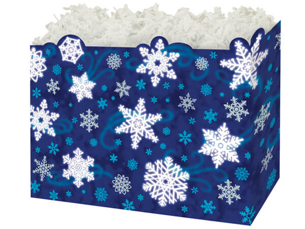 Large Winter Wonderland Basket Boxes 10-1/4x6x7-1/2""