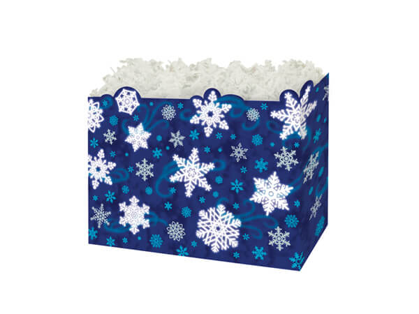 Small Winter Wonderland Basket Boxes 6-3/4x4x5""