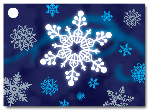 Winter Wonderland Theme Gift Cards 3-3/4x2-3/4""