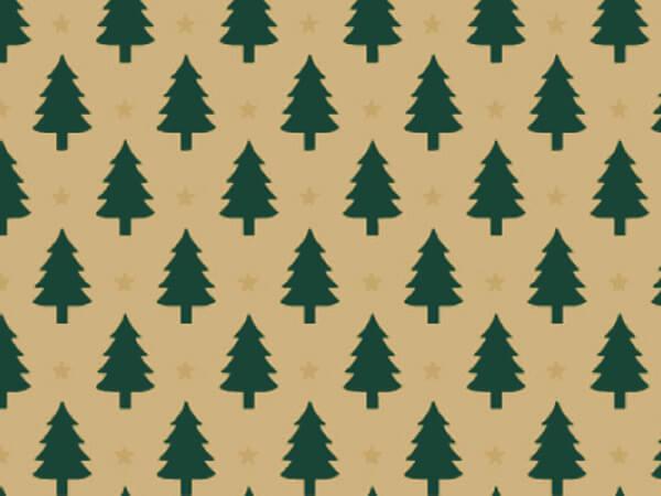 """Little Trees Gift Wrap 36""""x833' Gift Wrap Full Ream Roll (Kraft)"""