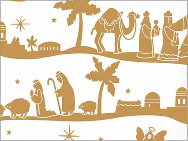 "Nativity 18"" x 833' Full Ream Roll Gift Wrap"