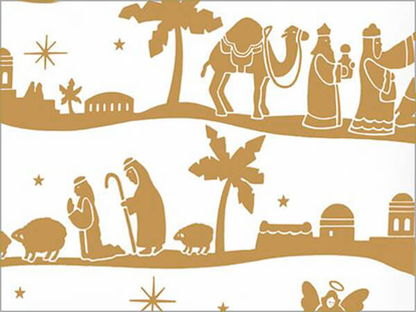 "Nativity 24"" x 833' Full Ream Roll Gift Wrap"