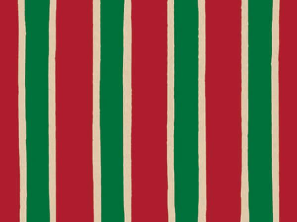 "Christmas Stripe 24""x100' Gift Wrap Roll (Kraft)"