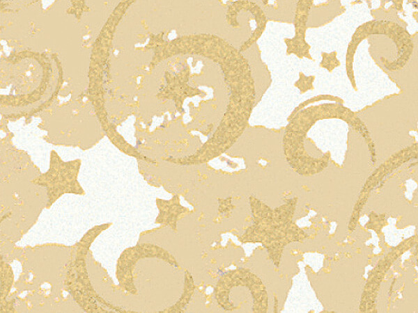 "Gold Stars & Swirls 36""x833' Gift Wrap Full Ream Roll (Kraft)"