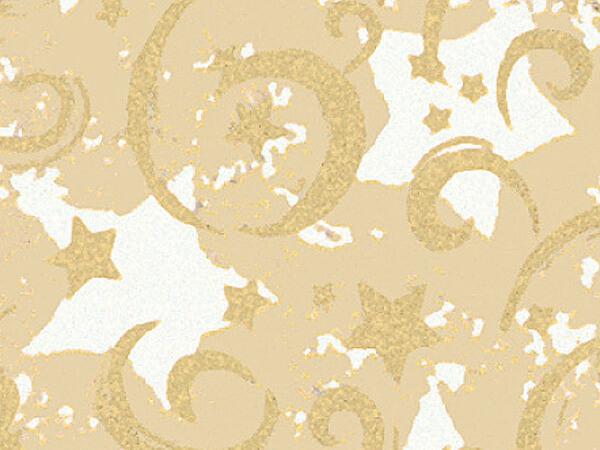 "Gold Stars & Swirls 18""x417' Gift Wrap Half Ream Roll (Kraft)"