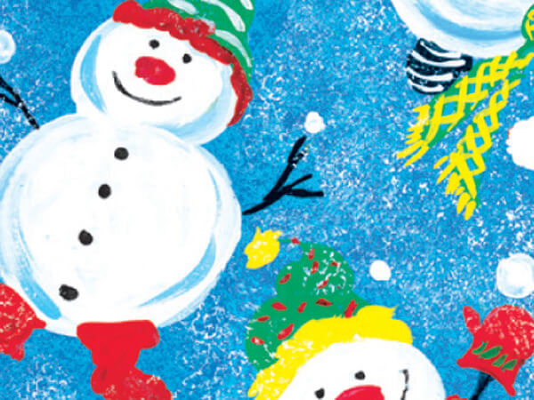 "Frosty Friends 36""x833' Gift Wrap Full Ream Roll"
