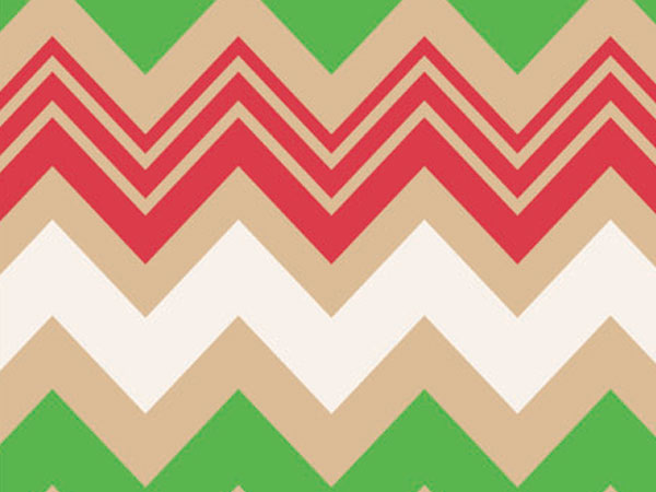 "Zig Zag Christmas 24""x100' Gift Wrap Roll (Kraft)"