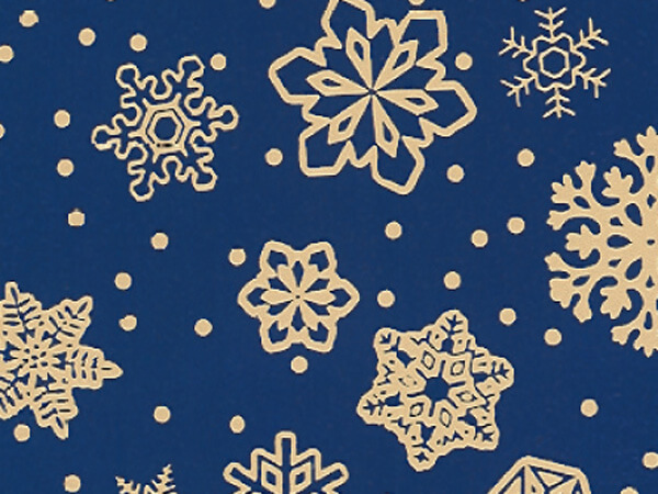 "Sparkling Snowflakes 18""x417' Gift Wrap Half Ream Roll"