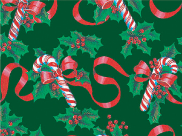 """Ribbons & Canes Gift Wrap 24""""x833' Gift Wrap Full Ream Roll"""