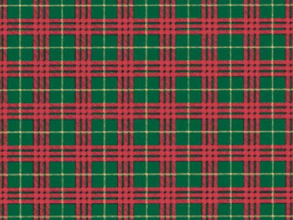 "Plaid Gift Wrap 18""x417' Gift Wrap Half Ream Roll"