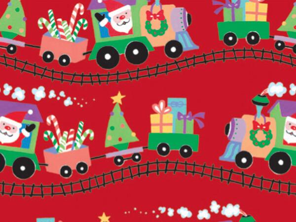 "Santa Express Gift Wrap 18""x833' Gift Wrap Full Ream Roll"