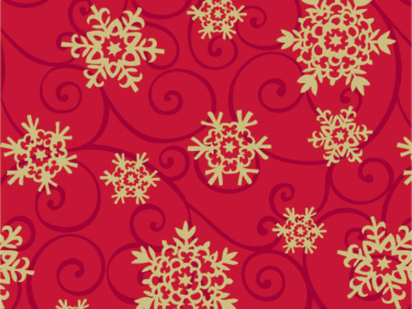 "Snowflake Medallion 18""x417' Gift Wrap Half Ream Roll"