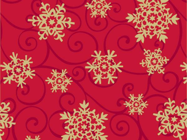 "Snowflake Medallion 24""x417' Gift Wrap Half Ream Roll"