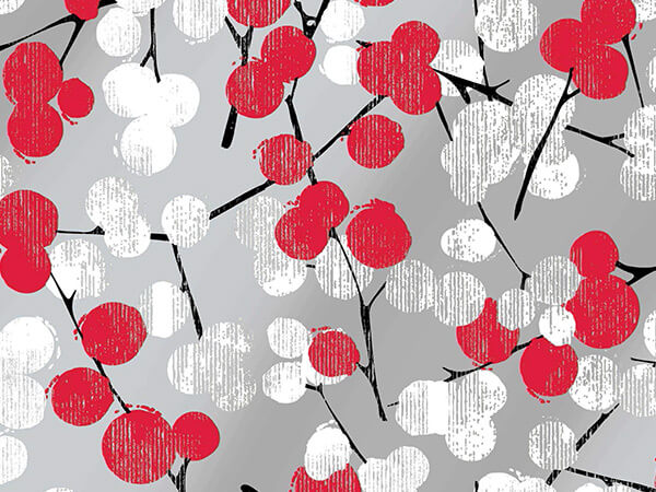 """Winter Branches Gift Wrap 24""""x417' Gift Wrap Half Ream Roll"""