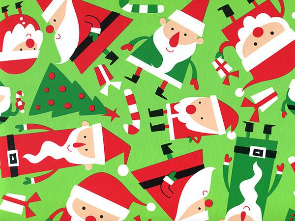 "Santa Soiree 24"" x 417' Half Ream Roll Gift Wrap"