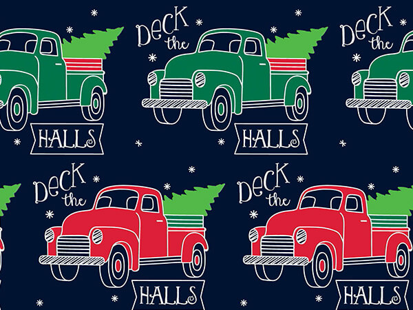 """Deck The Halls Gift Wrap 24""""x417' Gift Wrap Half Ream Roll"""