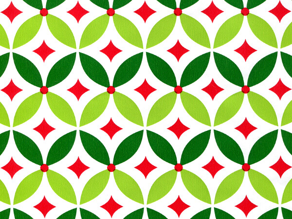 "Geo Holly Gift Wrap 24""x100' Gift Wrap Roll"
