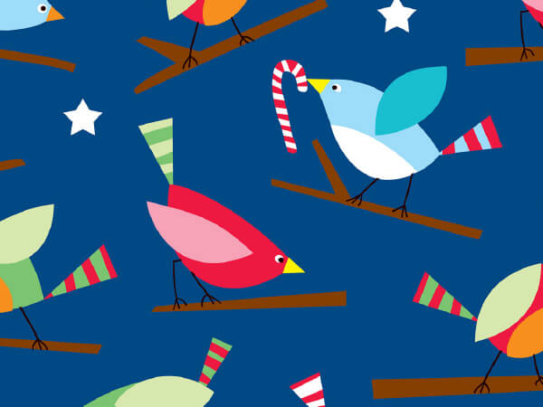"Holiday Tweets 24"" x 100' Cutter Box Gift Wrap"