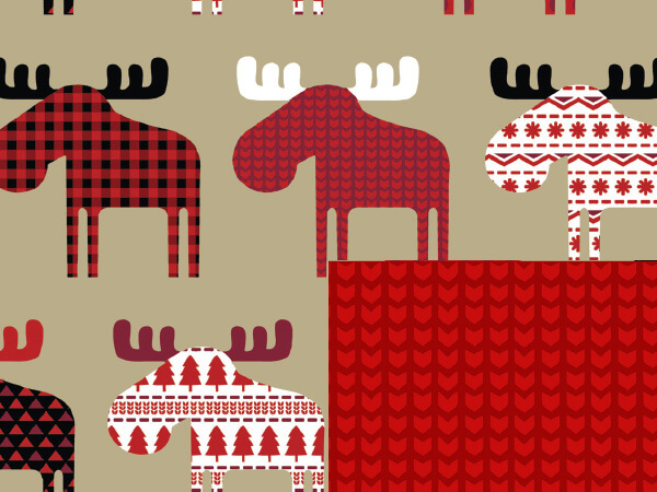 "Material Moose 24"" x 100' Cutter Box Gift Wrap (Reversible)"