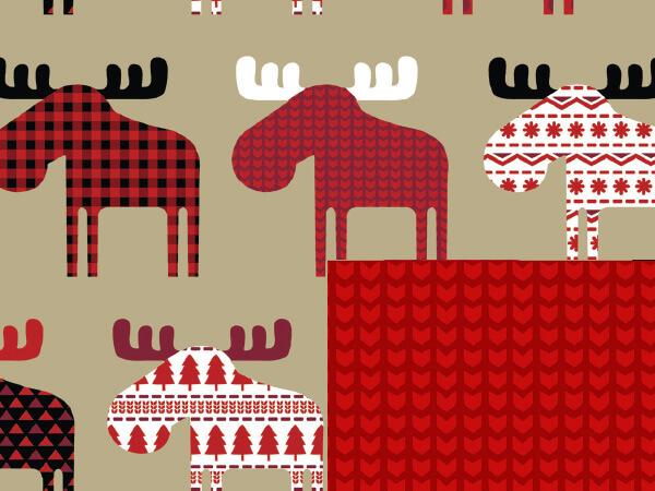 "Material Moose 24"" x 833' Full Ream Roll Gift Wrap (Reversibl"