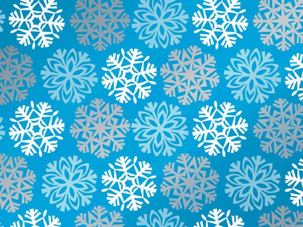 "Snowflakes 18"" x 833' Full Ream Roll Gift Wrap (Metallize"