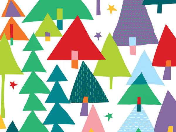 """Rainbow Christmas Wrapping Paper 24""""x100', Cutter Box"""