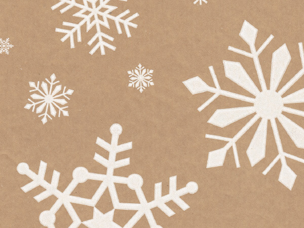 """Snowday Kraft Wrapping Paper 24""""x100', Cutter Box"""