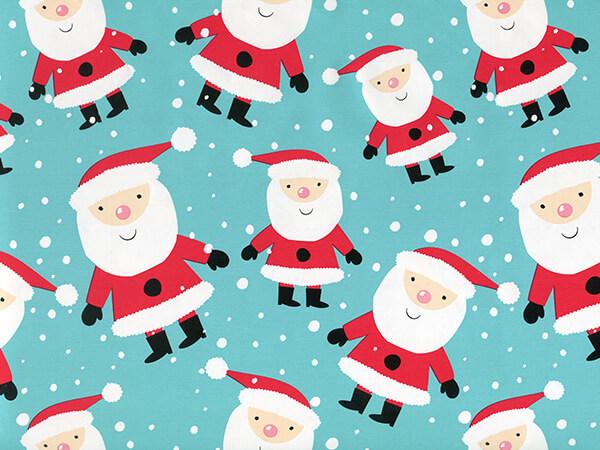 """Snowy Santa 24"""" x 417' Half Ream Roll Gift Wrap"""