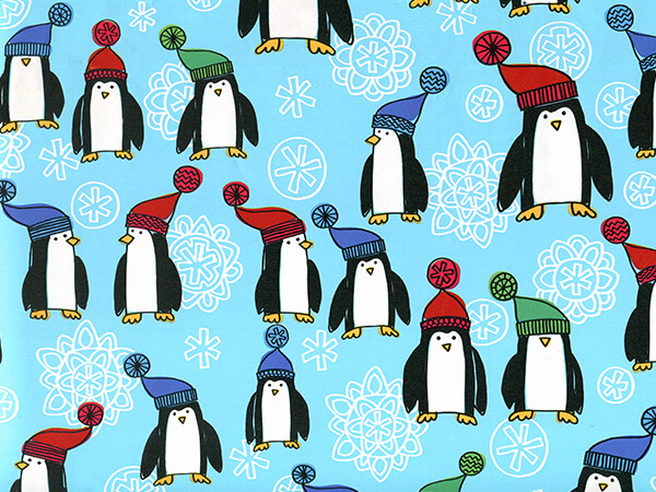 "Penguins 24"" x 100' Cutter Box Gift Wrap"