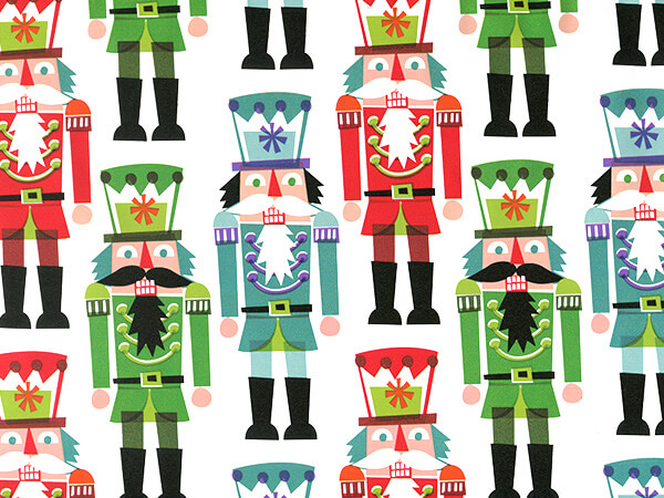 "Nutcrackers 24"" x 100' Cutter Box Gift Wrap"