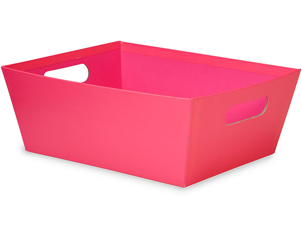 Hot Pink Wide Base Square Market Tray