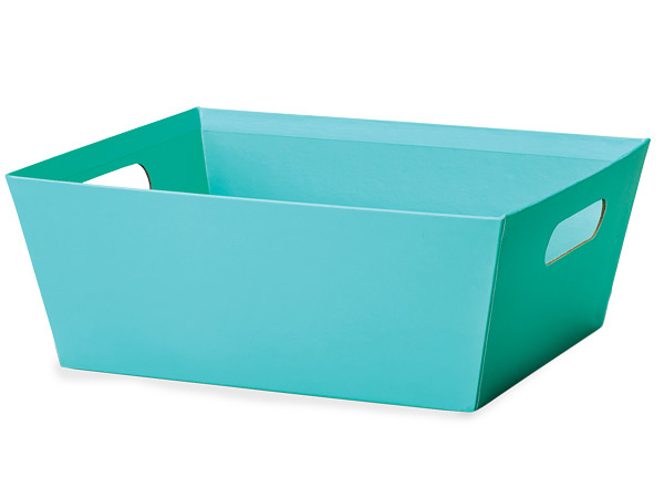 Turquoise Wide Base Rectangular Market Tray