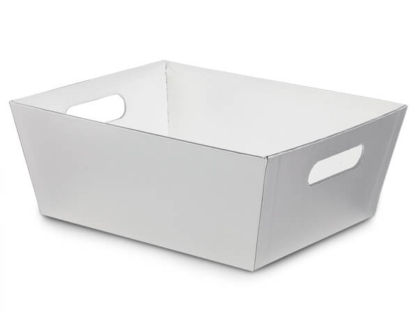 White X-Large Wide Base Market Tray