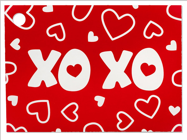 XOXO Theme Gift Cards 3-3/4 x 2-3/4""