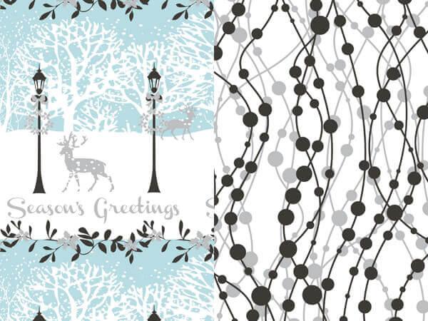 "*Seasons Greetings Reversible Gift Wrap, 24""x417' Roll"