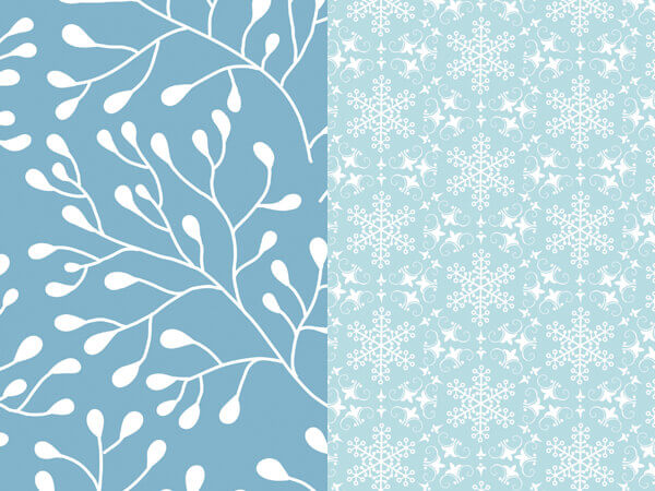 """*Winter Leaves & Snowflakes Reversible Gift Wrap, 24""""x417' Roll"""