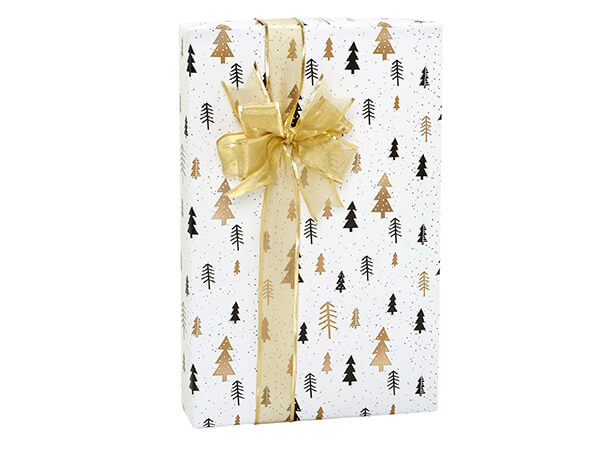 """Modern Trees Wrapping Paper 24""""X417' Counter Roll"""