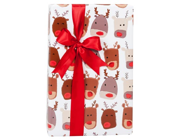 "Reindeer Fun Reversible Gift Wrap, 24""x85' Cutter Roll"